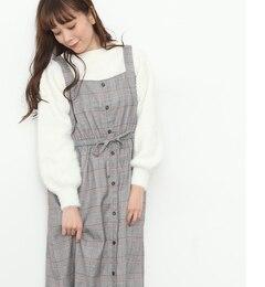 【ビス/ViS】 グレンチェック前ボタンジャンパースカート [3000円(税込)以上で送料無料]