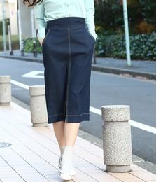 【ビス/ViS】 アーチ型ベルト前スリットタイトスカート [送料無料]