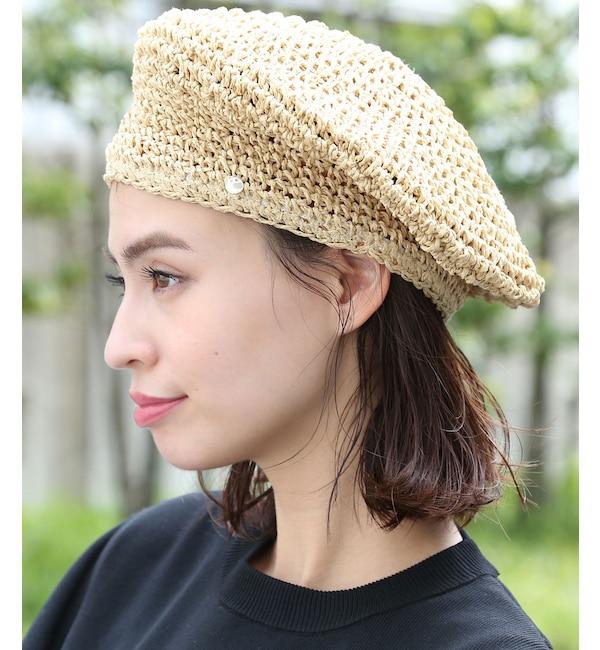 【ビス/ViS】 手編みペーパーベレー帽