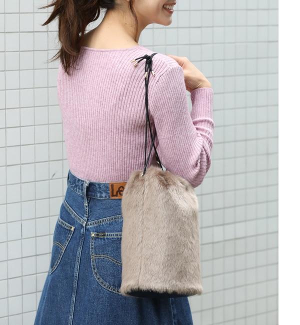【ビス/ViS】 【WEB限定】【Casselini】フェイクファー巾着ショルダーバッグ