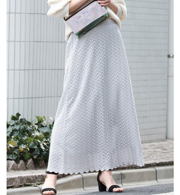 【ビス/ViS】 【WEB限定】レースロングスカート