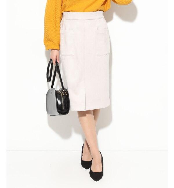 【ビス/ViS】 スエードタッチタイトスカート
