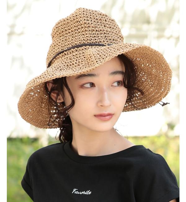 【ビス/ViS】 【抗菌防臭】手編みペーパーハット