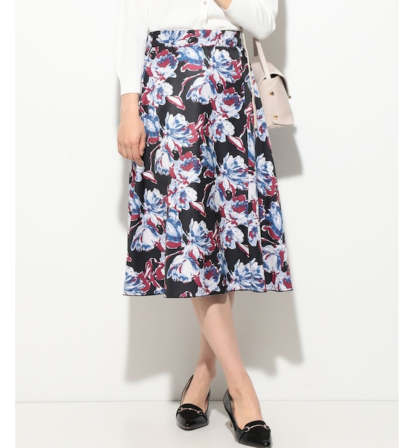 【ビス/ViS】 プリントリバーシブルフレアスカート