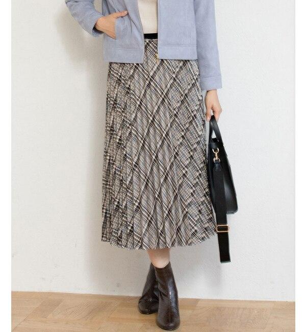 【ビス/ViS】 プリントアコーディオンプリーツスカート