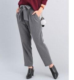 【ロペピクニック/ROPE' PICNIC】 リボンベルト付き9分丈パンツ [3000円(税込)以上で送料無料]