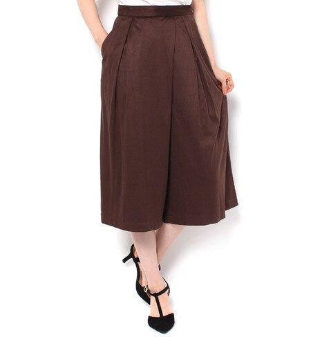 【ロペピクニック/ROPE' PICNIC】 フェイクスエードカシュクールガウチョパンツ [送料無料]