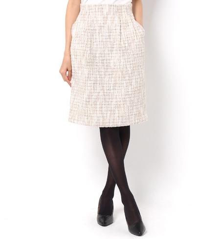 【ロペピクニック/ROPE' PICNIC】 ファンシーツイードタックコクーンスカート [3000円(税込)以上で送料無料]