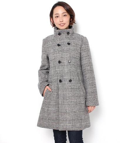 【ロペピクニック/ROPE' PICNIC】 グレンチェックスタンドカラーコート [送料無料]