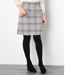 【ロペピクニック/ROPE' PICNIC】 ウールコンシャギーダイケイスカート [3000円(税込)以上で送料無料]