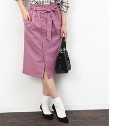 【ロペピクニック/ROPE' PICNIC】 リボン付アイラインスカート [3000円(税込)以上で送料無料]