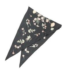 【ロペピクニック/ROPE' PICNIC】 ボタニカルプリント菱形スカーフ [3000円(税込)以上で送料無料]
