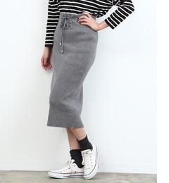 【ロペピクニック/ROPE' PICNIC】 レースアップニットスカート [3000円(税込)以上で送料無料]