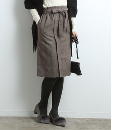 【ロペピクニック/ROPE' PICNIC】 【セットアップ対応】グレンチェックアイラインスカート [送料無料]