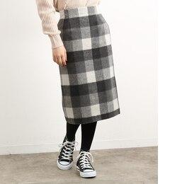 【ロペピクニック/ROPE' PICNIC】 ブロックチェックシャギーアイラインスカート [送料無料]