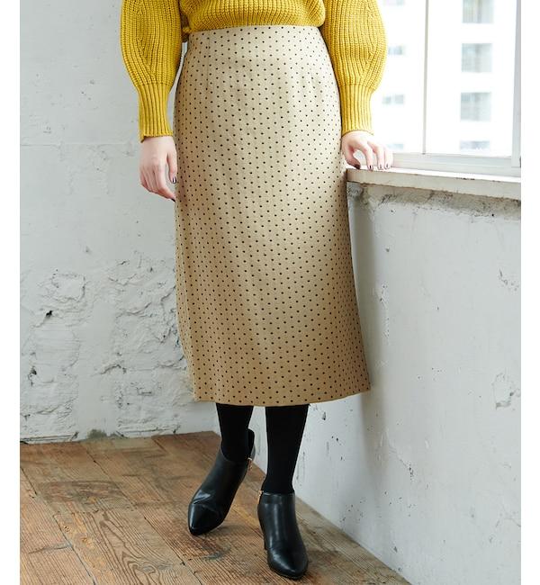 【ロペピクニック/ROPE' PICNIC】 【WEB限定】ドットジャガードロングタイトスカート