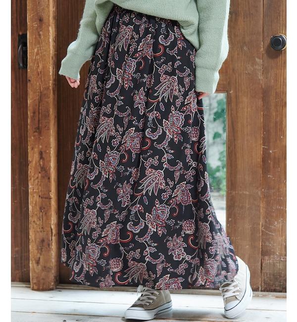 【ロペピクニック/ROPE' PICNIC】 【WEB限定】ペイズリー柄マキシスカート