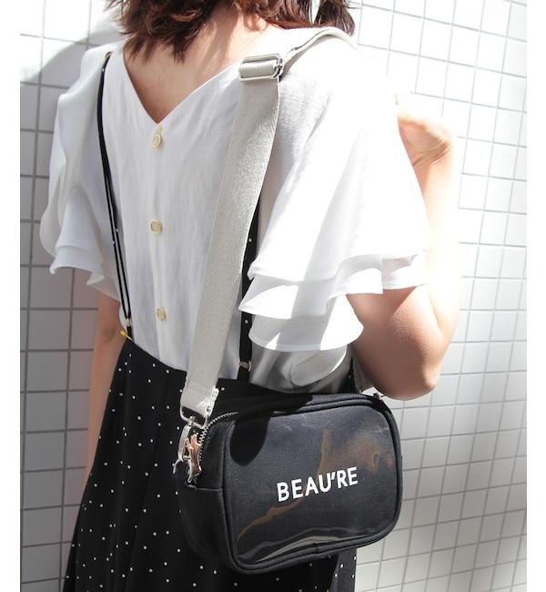 【ロペピクニック/ROPE' PICNIC】 【Beau're】ロゴプリンスクエアショルダーバッグ