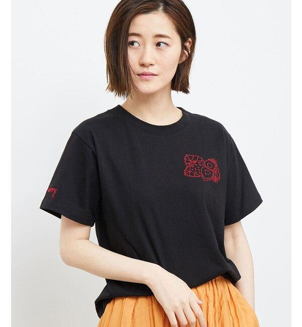 【ロペピクニック/ROPE' PICNIC】 フルーツ刺繍Tシャツ