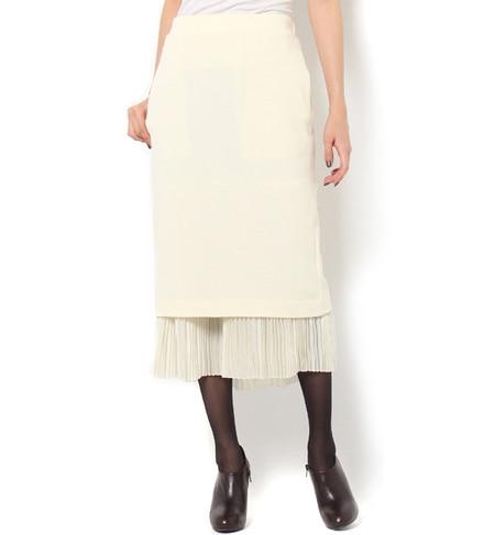 【アダム エ ロペ/ADAM ET ROPE'】 ヘムプリーツタイトスカート [送料無料]