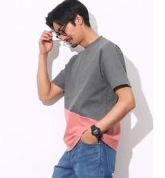 【アダムエロペ/ADAMETROPE'】ポンチライン切り替えTシャツ[送料無料]
