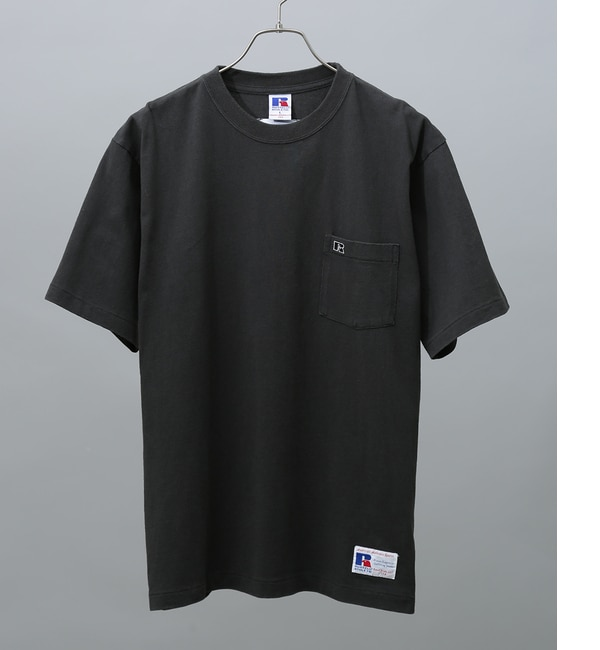 【アダム エ ロペ/ADAM ET ROPE'】 【RUSSELL×ADAM ET ROPE'】刺繍ポケットTシャツ [送料無料]