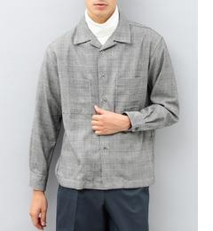 【アダム エ ロペ/ADAM ET ROPE'】 T/Rグレンチェックオープンカラーシャツ [送料無料]