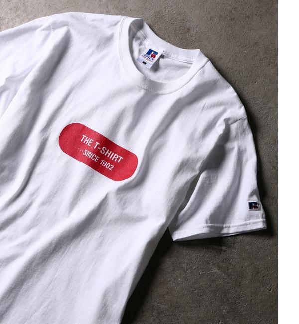 【アダム エ ロペ/ADAM ET ROPE'】 【RUSSELL for ADAM ET ROPE'】プリントTシャツ [送料無料]