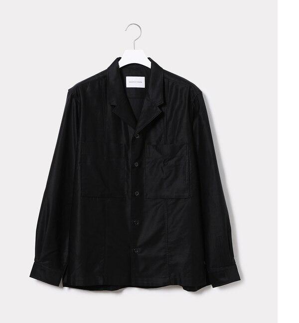 【アダム エ ロペ/ADAM ET ROPE'】 コットンキュプラモールスキンシャツ [送料無料]