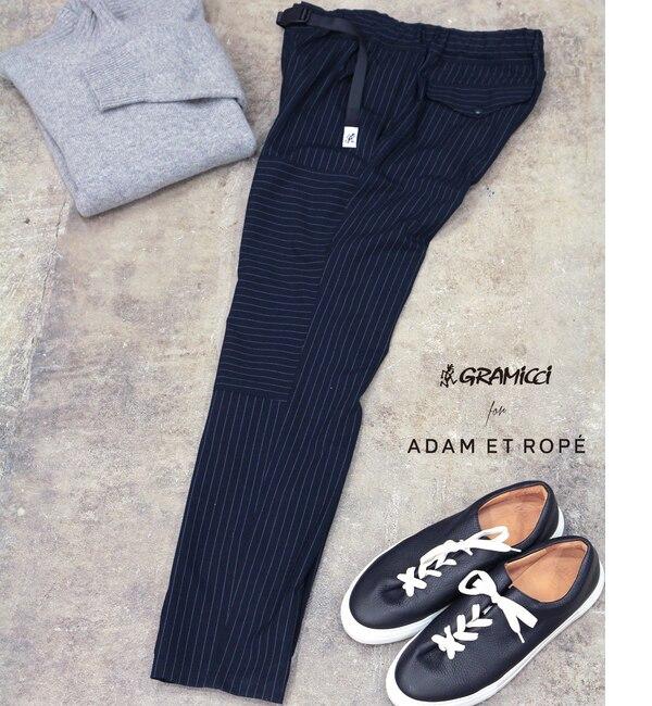 【アダム エ ロペ/ADAM ET ROPE'】 【GRAMICCI】別注 TRO STRIPE CRAZY 1TUCK PANTS