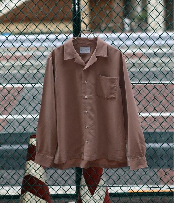 【アダム エ ロペ/ADAM ET ROPE'】 【WEB限定】パウダーポプリンオープンカラーシャツ