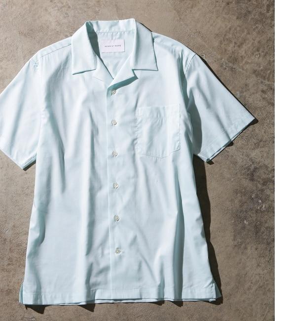 【アダム エ ロペ/ADAM ET ROPE'】 コットンテンセルローンオープンカラーシャツ [送料無料]