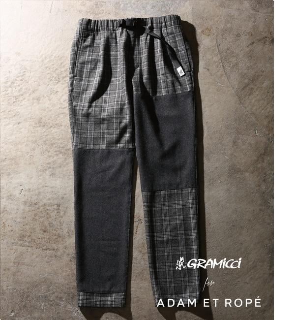 【アダム エ ロペ/ADAM ET ROPE'】 【GRAMICCI 別注】 WOOL CRAZY 1TUCK PANTS