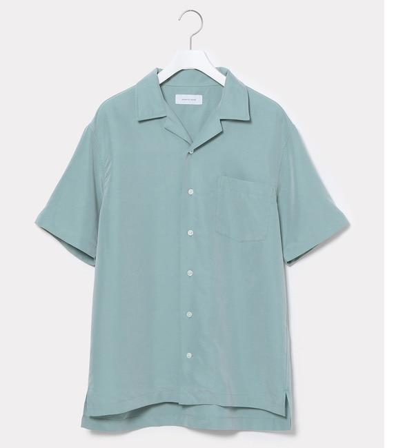 【アダム エ ロペ/ADAM ET ROPE'】 シルケットオープンカラーシャツ