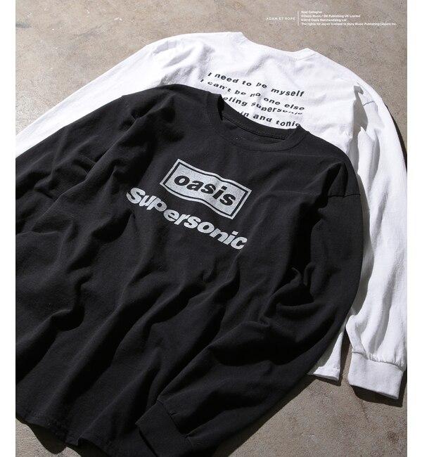 【アダム エ ロペ/ADAM ET ROPE'】 【oasis for ADAM ET ROPE'】SONG LYRICS T-shirt(長袖)