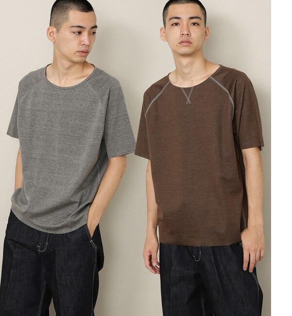 【アダム エ ロペ/ADAM ET ROPE'】 〈ONOメリヤス〉別注 接結カットオフTシャツ