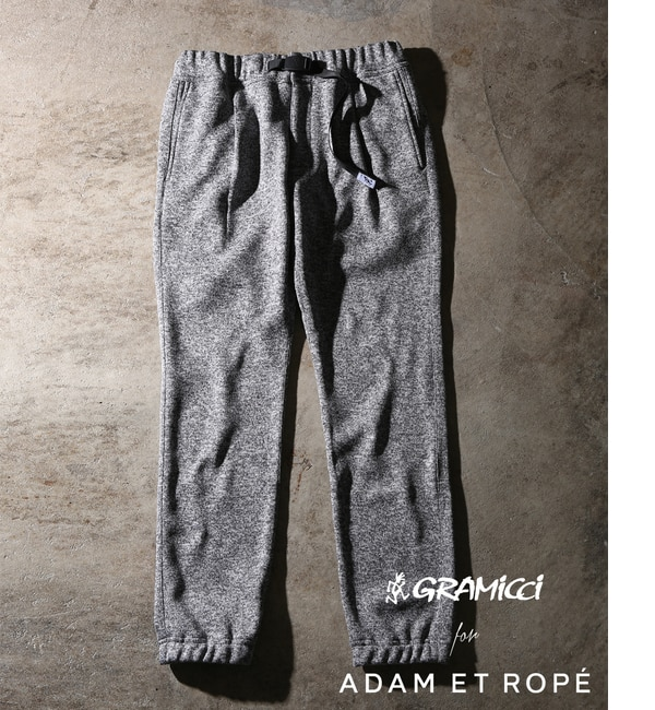 【アダム エ ロペ/ADAM ET ROPE'】 【GRAMICCI 別注】bonding knit fleece pants