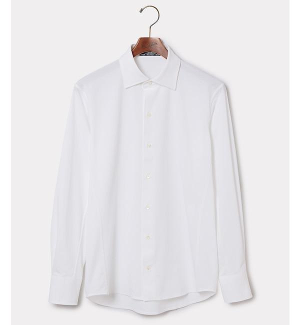 【アダム エ ロペ/ADAM ET ROPE'】 WLT×MEMBRANA ハニカム ドレスシャツ