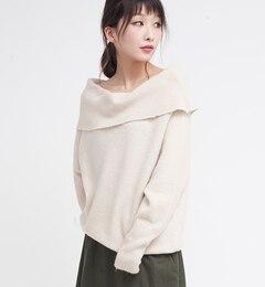 【オズモーシス/OSMOSIS】 オフタートルニットプルオーバー [送料無料]