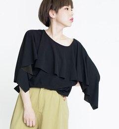 【オズモーシス/OSMOSIS】 2WAYフレアードルマンスリーブTシャツ [送料無料]
