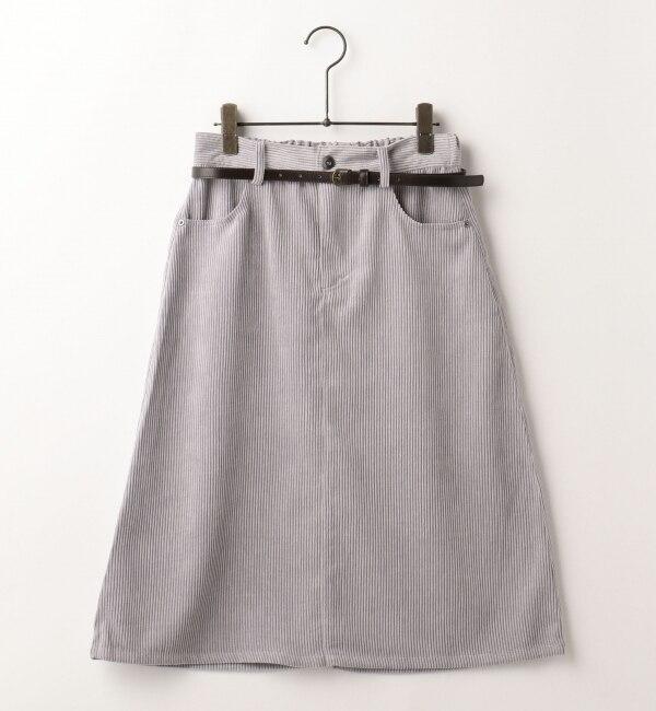 【フレームス レイカズン/frames RAY CASSIN】 ベルト付きコーデュロイスカート [送料無料]