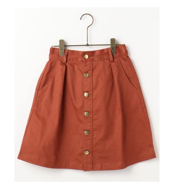 【レイカズン/RAY CASSIN】 前ボタン台形スカート [3000円(税込)以上で送料無料]