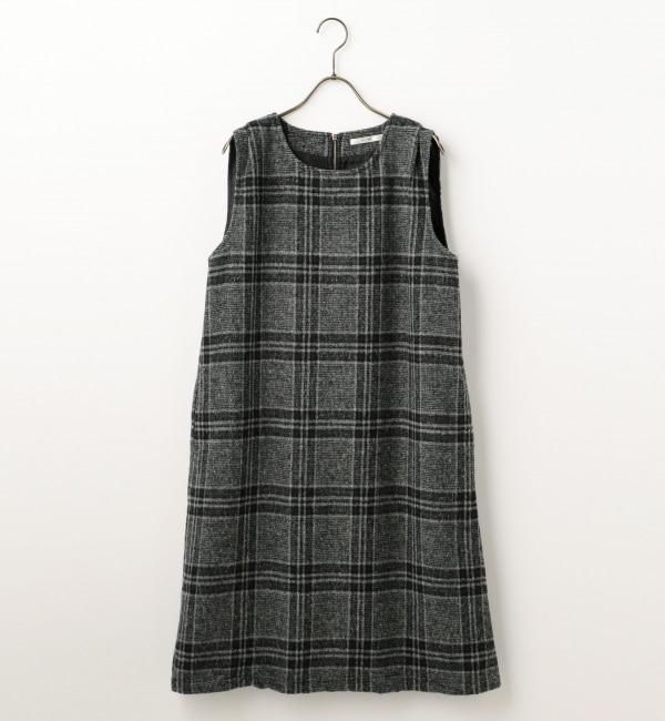 【レイカズン/RAY CASSIN】 チェック柄ジャンパースカート [送料無料]
