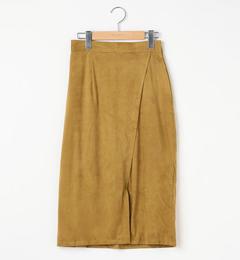 【レイカズン/RAY CASSIN】 スウェード調前スリットタイトスカート [送料無料]