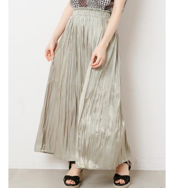 【レイカズン/RAY CASSIN】 サテン消しプリーツスカート