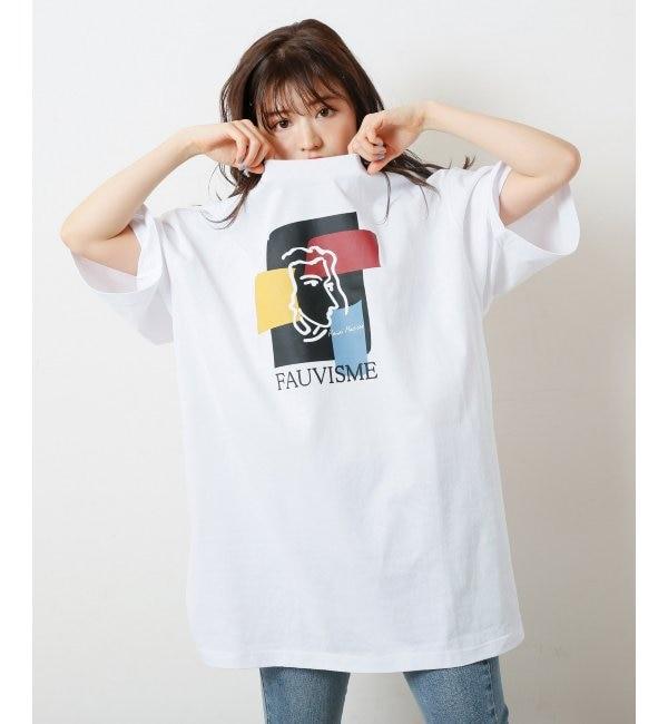 【レイカズン/RAY CASSIN】 線画ビックTシャツ