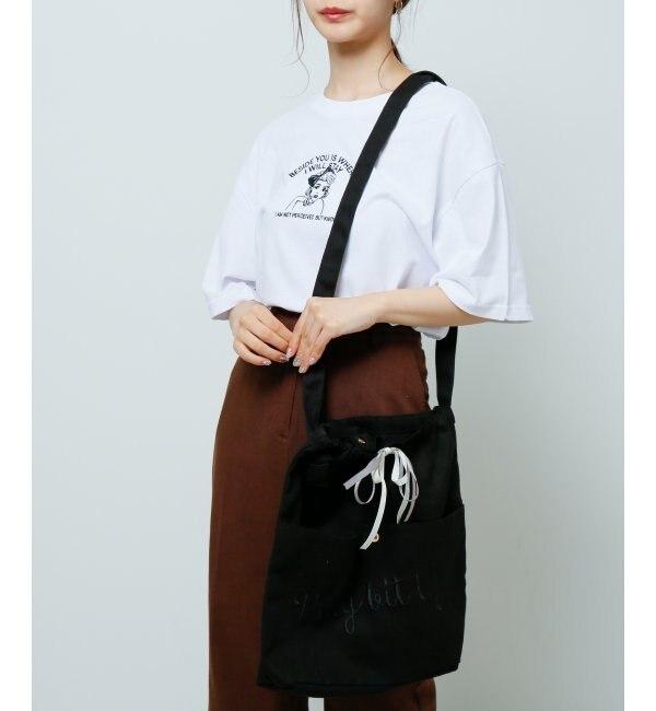 【レイカズン/RAY CASSIN】 刺繍キャンバスショルダー