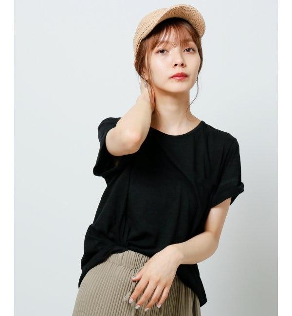 【レイカズン/RAY CASSIN】 ポケット付裾ラウンドスラブTシャツ