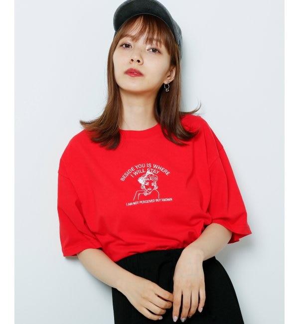 【レイカズン/RAY CASSIN】 女の子刺繍Tシャツ
