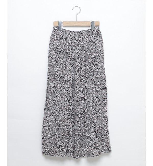 【レイカズン/RAY CASSIN】 小花柄プリーツスカート